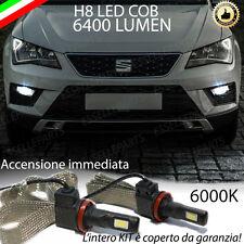 KIT FULL LED SEAT ATECA LAMPADE H8 FENDINEBBIA CANBUS 6000K 100% NO ERROR
