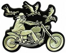Biker & Vultures Motorcycle MC Club Embroidered Biker New BACK PATCH LRG-0414