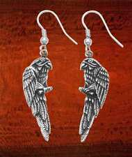 Stainless Steel Two Sided Parrot on Perch Hook Earrings - IE104