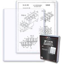 "25 - BCW 8.5 x 11"" Photograph/Document Hard Plastic Topload Holder Protectors"