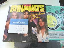 The Runaways Rare orig Vinyl LP Record joan jett Little Lost Girls rhino 1981!!