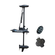 """Black Haswing 12V 55LBS 48"""" Electric Bow Mount Trolling Motor with Foot Control"""
