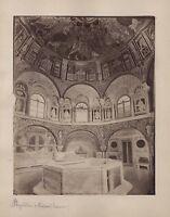 Battistero Ortodossa Ravenna Italia Vintage Albumina Ca 1870