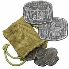 7- 1 oz. 999 Fine Silver Relic Bars - Egyptian God Anubis Jackal in a Bag