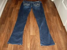 WOMENS JUNIORS HYDRAULIC CHELSEA MICRO BOOT STRETCH JEANS SIZE 9/10 FLAP POCKETS