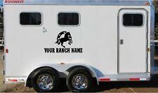 Custom Name & Horses Truck Trailer Decal Stickers Graphics Vinyl Equestrian