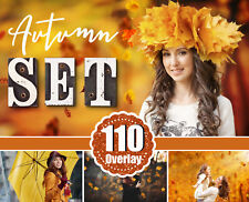 110 Autumn Set Photo Overlays Falling Leaves, fog, cloud, sky, raine, sun, light