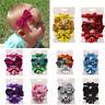 3Pcs Kids Elastic Floral Sequin Headband Hair Girls baby Bowknot Hairband Set