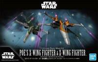 BANDAI POE'S X-WING FIGHTER & X-WING FIGHTER 1/144 Plastic model STAR WARS