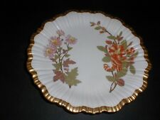 Royal Worcester Antique Hand Painted Floral Plate 1888 -Gorgeous (loc-X8)