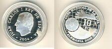 España 10 euro 2004 copa del mundo en alemania plata pp (m00328)