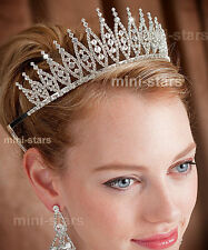 Pageant Beauty Contest Bridal Wedding Tiara Use  Austrian Crystal AT1531