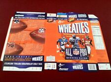 NFL All Pro Running Back Wheaties Box Sanders, Allen, FLAT FROM FACTORY, Rare!