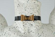 Latex Halsband mit Zierschleife, schwarz,silber,gold,lila,weiß