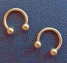 Hufeisen Barbell Gold TITAN Piercing Ring in 2 Größen lieferbar Studio Ware