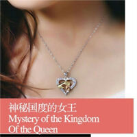 Fashion Charm Women Heart Crystal Chain Pendant Necklace Jewelry Mother Day Gift