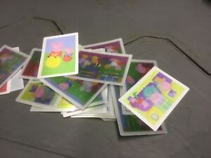 40 X PEPPA PIG LENTICULAR COLLECTORS CARDS PARTY BAG FUN 6 DESIGNS APPROX