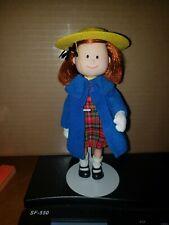 "1997 Madeline 7"" Doll in Original Plaid Dress, Blue Coat Made by Eden Pristine"