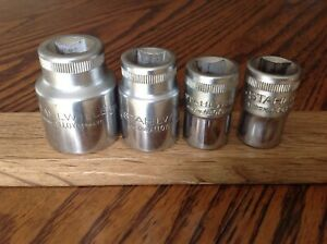"4 Stahlwille Sockets With 1/2"" Drive 1""&1/16""to 19/32""AF."