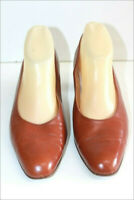BALLY Escarpins Vintage Tout Cuir Marron Cannelle T 41 BE