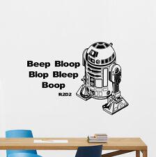 R2-D2 Wall Decal Star Wars R2D2 Droid Quote Vinyl Sticker Art Decor Mural 64crt