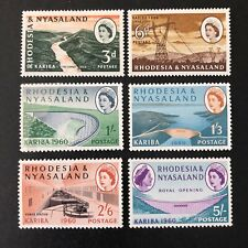 RHODESIA & NYASALAND, SCOTT # 172-177(6),COMPLETE SET QE2 PICTORIALS ISSUE MNH
