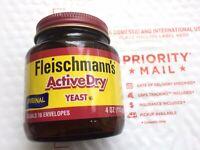 🔥 Fleischmann's Active Dry Yeast - 4 oz. Jar Mar. 09, 2022 🍞Same Day Ship