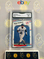 1988 Fleer Rickey Henderson #209 - 10 GEM MT GMA Graded Yankees Baseball Card