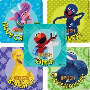 Sesame Street Stickers x 5 - Brush your teeth - Sesame Dental Stickers Patient
