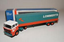 ± LION CAR DAF 2800 TRUCK WITH TRAILER LOMMERTS NEAR MINT BOXED VERY RARE