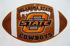 NCAA College OKLAHOMA STATE University Football Shaped Plastic Sign by Wincraft