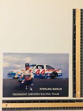 "Piedmont Airlines 44 NASCAR~ Sterling Marlin~ 1988 6""x9"" w/OLDSMOBILE DELTA"