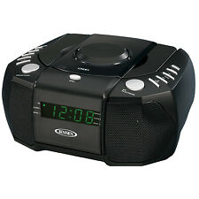 JENSEN PORTABLE DUAL ALARM CLOCK AM/FM STEREO RADIO TOP LOADING CD PLAYER NEW