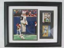 TROY AIKMAN FRAMED AUTOGRAPHED 8X10 PHOTO W/ 2 2x3 CARDS OLD PRO GALLERY 001051