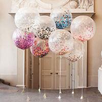Ballon géant Brithday fête mariage décoration multicolore confettis bal SQ