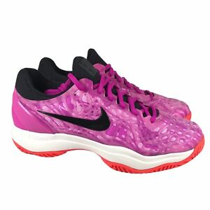 Nike Air Zoom Cage 3 HC Tennis Shoes Fuchsia Pink Black 918199-600 Womens Size 8