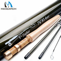 "Maxcatch 1/2/3wt Fly Fishing Rod 6'/6'6""/7'6"" Graphite IM10 Medium Fast Action"