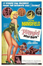 "Jane Mansfield Playgirl After Dark Movie Poster Replica 13x19"" Photo Print"