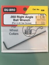 Du-bro .050 Right Angle Ball Wrench (for 4-40 Set/grub Screw)