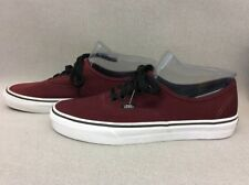 Mens Vans Skate Shoes Burgundy Authentic Size US 8 TT20