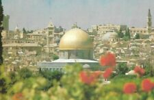 JERUSALEM, THE OLD CITY SEEN FROM Mt. OLIVE postcard  ~