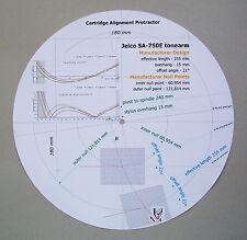 Jelco sa-750e personalizzato progettato PHONO CARTRIDGE Stylus allineamento Goniometro