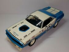 1/18 ACME HWY61 1970 PLYMOUTH BARRACUDA #42 CHRYSLER OF FRANCE HENRI CHEMIN