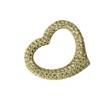 14K Solid Real Yellow Gold Heart Love Charm Pendant