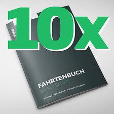 10er Pack - Type 7 Premium-Fahrtenbuch DIN A5, 60 Seiten, für Finanzamt geeignet