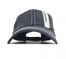 Mike Golf Swoosh Logo Black Baseball Cap Hat Adj Men's Size Polyester