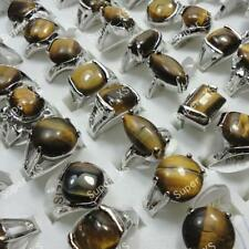 30pcs tiger-eye women silver plated Rings wholesale jewelry lots  free shipping