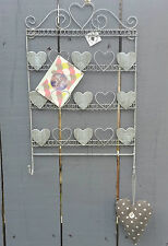 WIRE CARD HOLDER MEMO BOARD PHOTO HOLDER METAL HOOKS HEART DISPLAY STORAGE GIFT