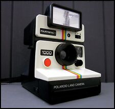 Polaroid 1000 SX-70 Instant Camera + Polatronic 1 Flash  | Tested Working