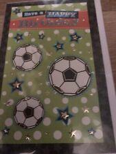 Boy birthday card football